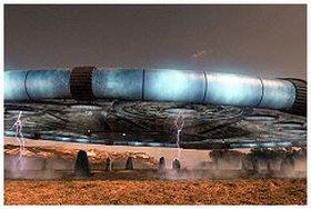 Svemirski brod na zemaljskoj benzinskoj pumpi!